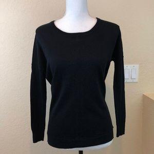 Madewell Crew Neck Sweater Black XS Black Sleeves